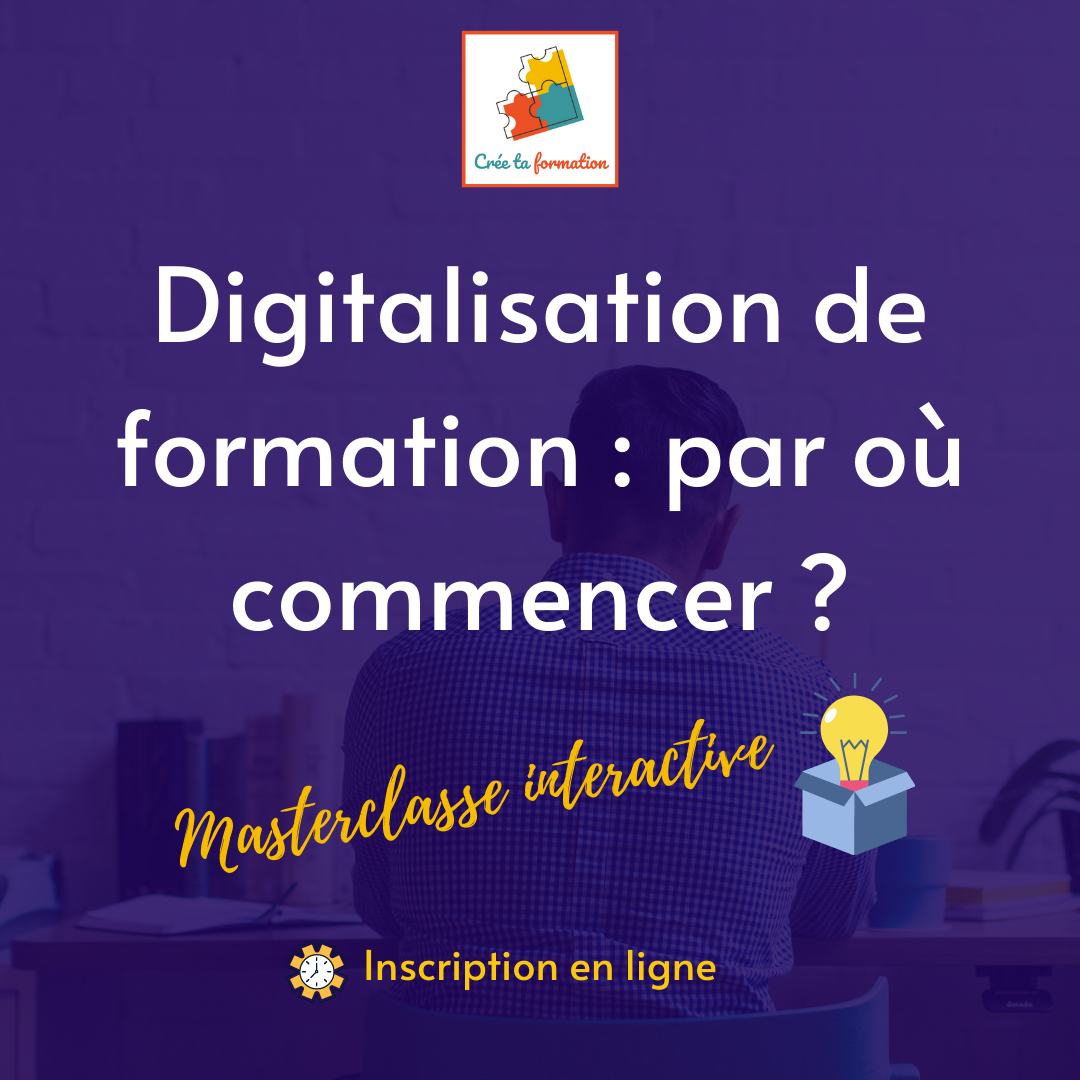 digitaliser une formation
